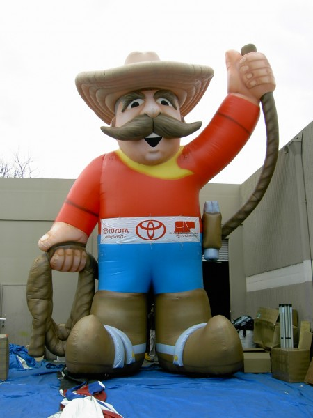 Custom Inflatable Advertising in Giant Balloon Cowboy Character
