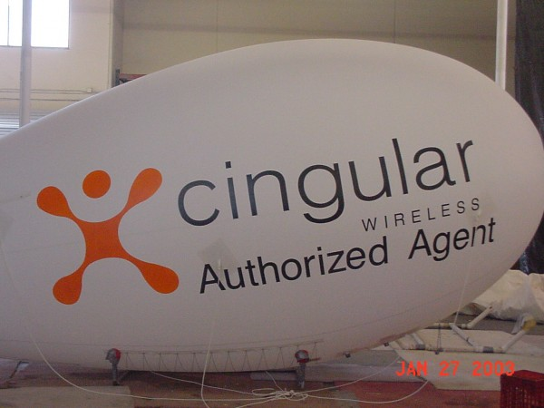 Logo Blimp Custom Designs and Helium Advertising Blimps