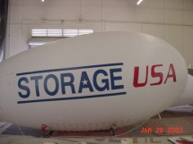 Helium Advertising Blimps Helium Blimps Self-Storage Helium Advertising Blimps in Custom Inflatable Designs