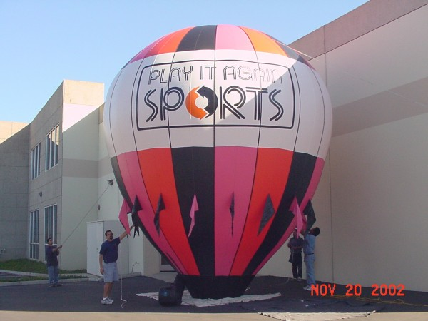 Advertising Balloons and Inflatables for Sports Goods Retailer
