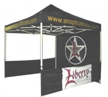 10'x10' pop up canopy tent with custom graphis