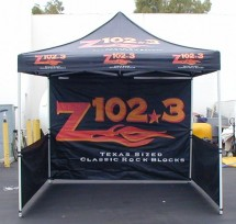 10'x10' color logo event tent with 2-side walls