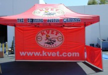 3-color logo event tent with 1-side wall