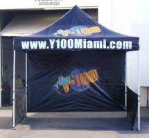 10'x10' custom easy pop up tent