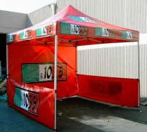 10'x10' 3-color logo canopy tent with skirt walls