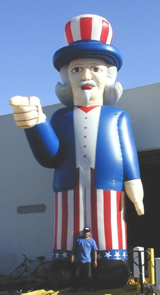 Patriotic Inflatables Advertising Balloons for Outdoor Marketing