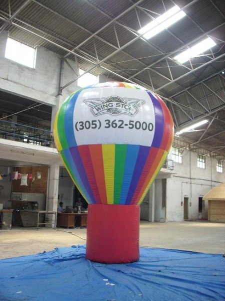 Helium Advertising Balloon for Restaurant Grand Opening