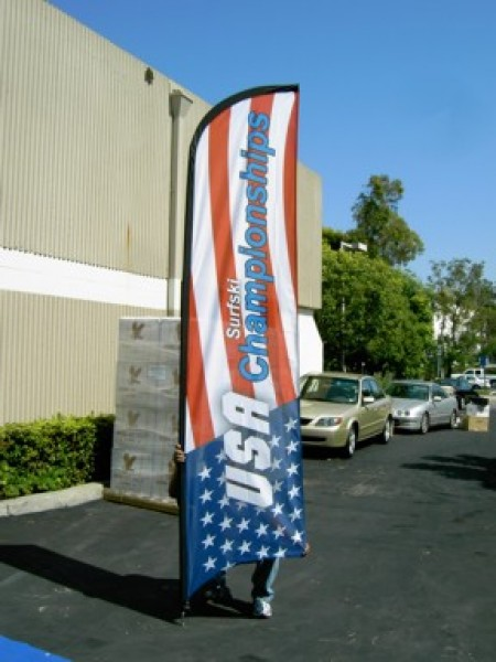 Patriotic Feather Flags, Banners and Balloons for Advertising
