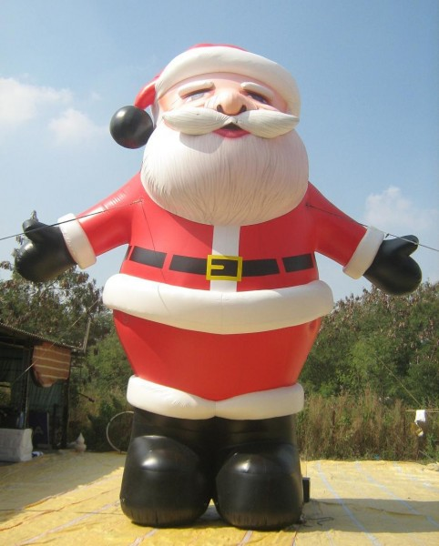 Giant Inflatable Santa for Holiday Christmas Decorations