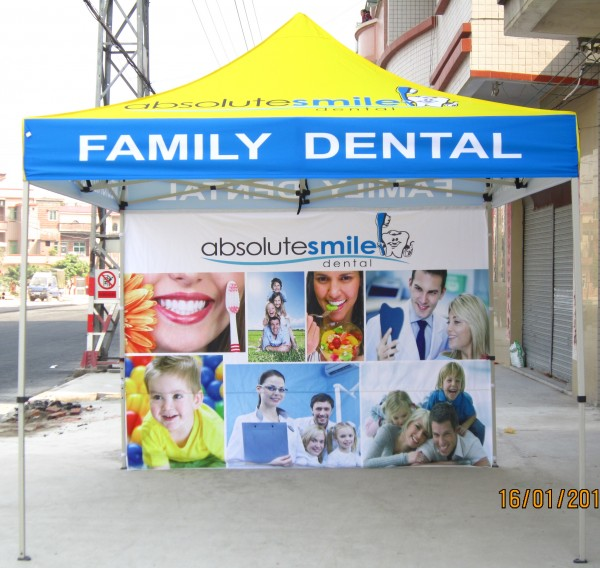 Promotional Pop Up Tents and Inflatables for Dental Advertising