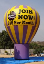Advertising Balloons Inflatable Advertising Ballons Planet Fitness Balloon