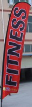 Advertising Feather Flags Advertising Feather and Banner Flags Fitness Flags