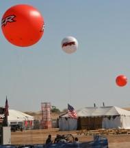 Inflatable Spheres Inflatable Advertising Spheres Outdoor Spheres in Desert
