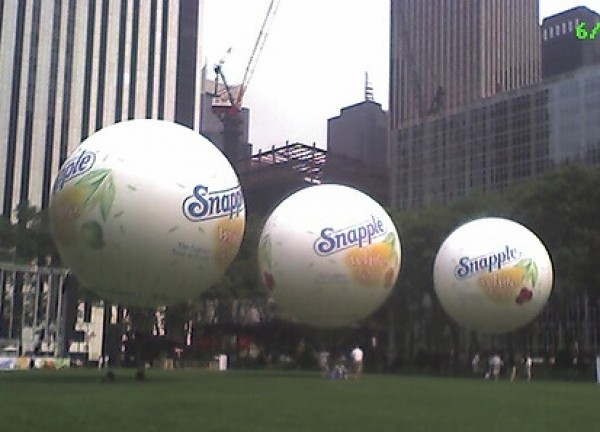Inflatable Spheres Inflatable Advertising Spheres Snapple Sphere Inflatables