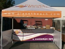 custom canopy pop up tents