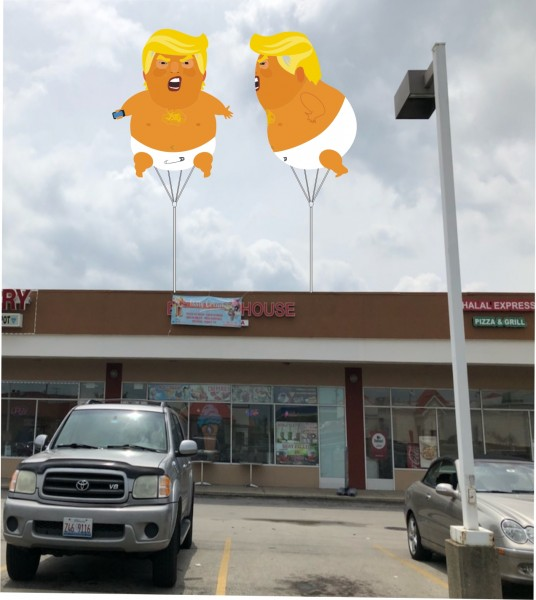 Helium Advertising Blimps Helium Blimps Trump Baby Blimp