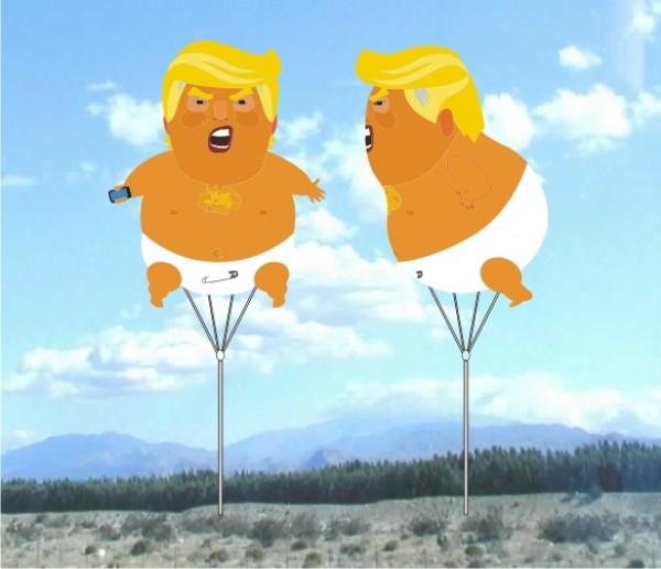 Helium Advertising Blimps Helium Blimps Trump Blimp