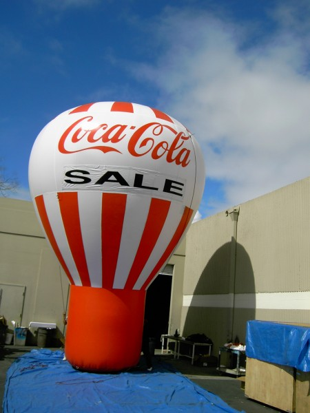 Rooftop Balloons and Inflatables Great for Custom Advertising